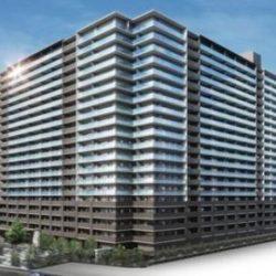 ㈱竹中工務店施工の免震タワーマンション外観