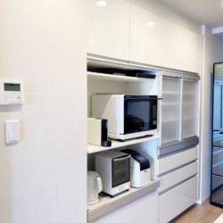 パナソニック製の造り付け食器棚キッチン