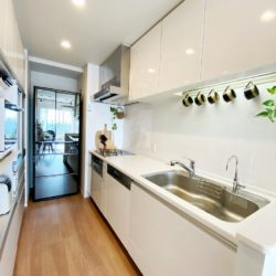 ドイツ製ミーレのビルトイン式大型食洗器を設置キッチン