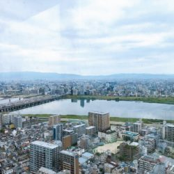 お部屋からの眺望(淀川花火大会も眼前で鑑賞できます)